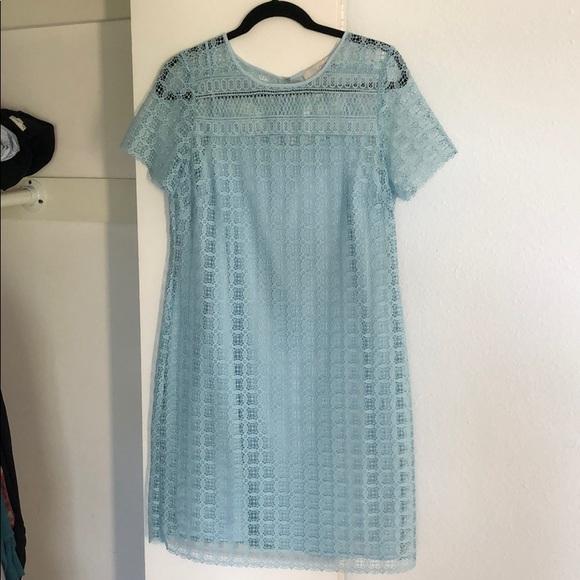 LOFT Dresses & Skirts - LOFT blue lace dress